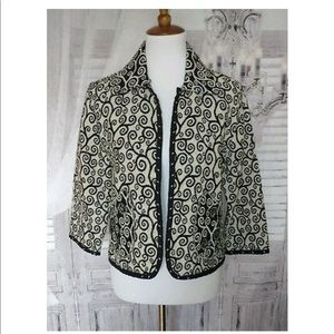 Black cream tapestry swirl Jacket Small